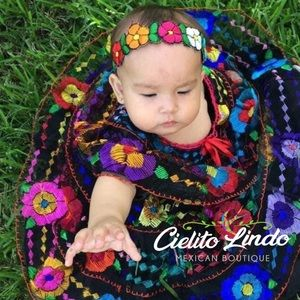 Mexican Chiapaneca Dress Embroidered for Babies